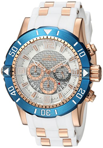 Invicta Mens Pro Diver Quartz Stainless Steel and Polyurethane Diving Watch  Color:Two Tone (Model: