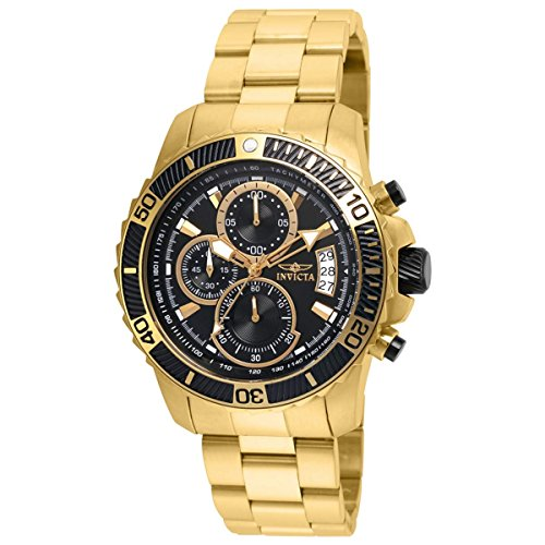 Invicta Mens Pro Diver Quartz Stainless Steel Casual Watch  Color:Gold-Toned (Model: 22414)