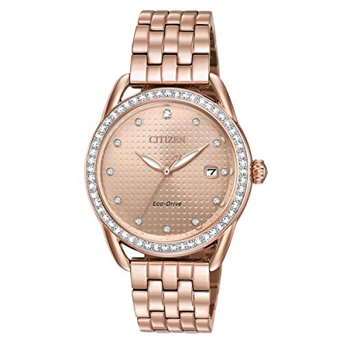 Ladies Drive from Citizen LTR Rose Gold-Tone Stainless Steel Watch FE6113-57X