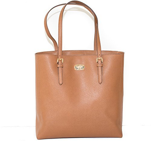 Michael Kors Large Jet Set Travel Saffiano N/S Tote (Brown)